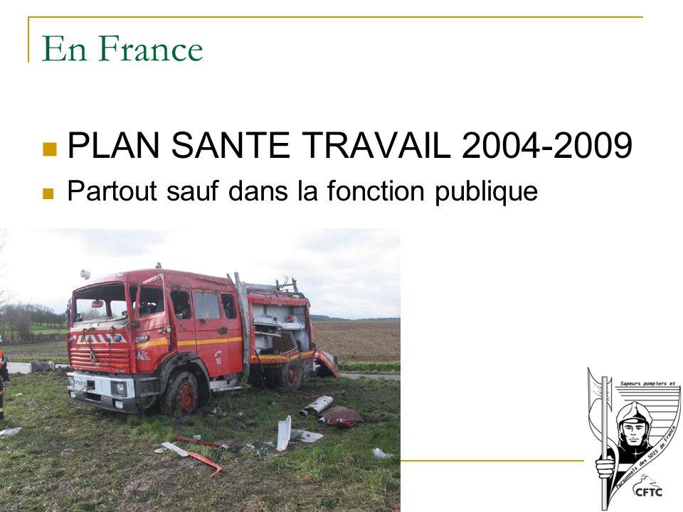 En France PLAN SANTE TRAVAIL 2004-2009