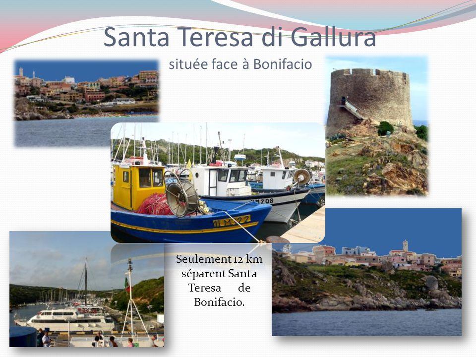 Santa Teresa di Gallura située face à Bonifacio