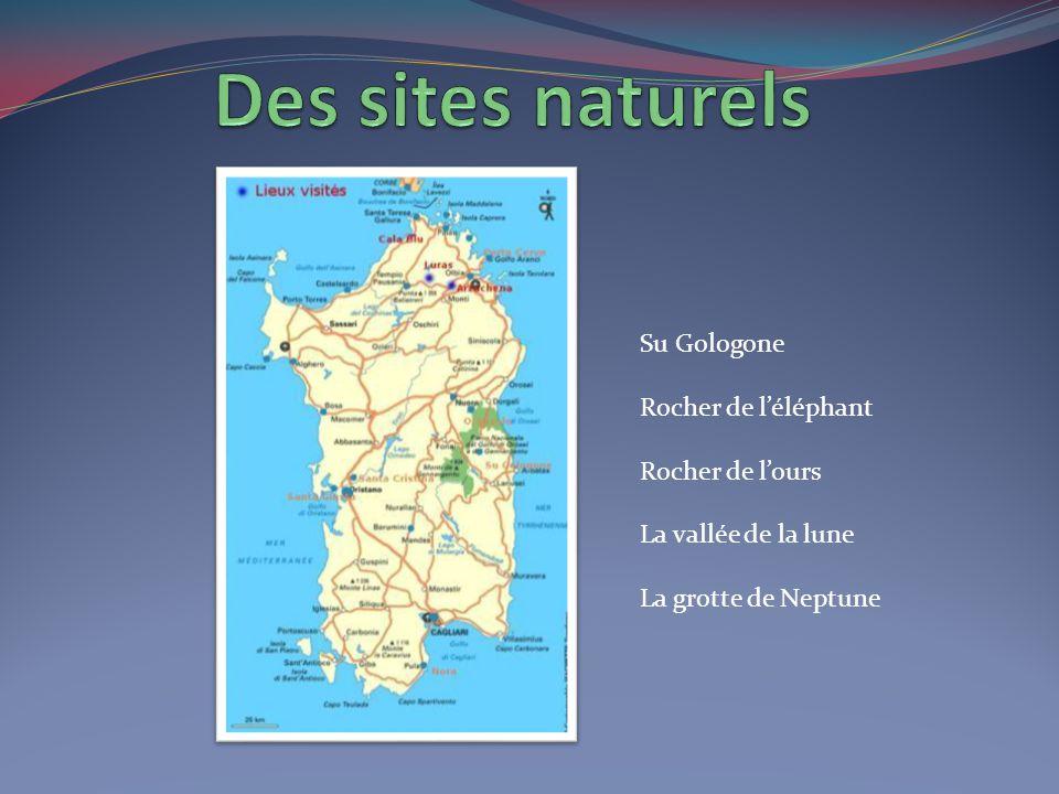 Des sites naturels Su Gologone Rocher de l'éléphant Rocher de l'ours