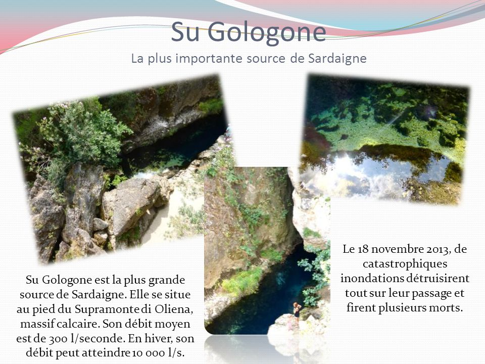 Su Gologone La plus importante source de Sardaigne