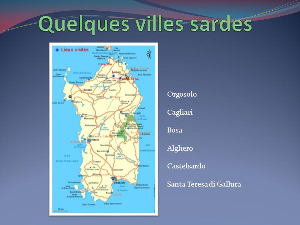 Quelques villes sardes