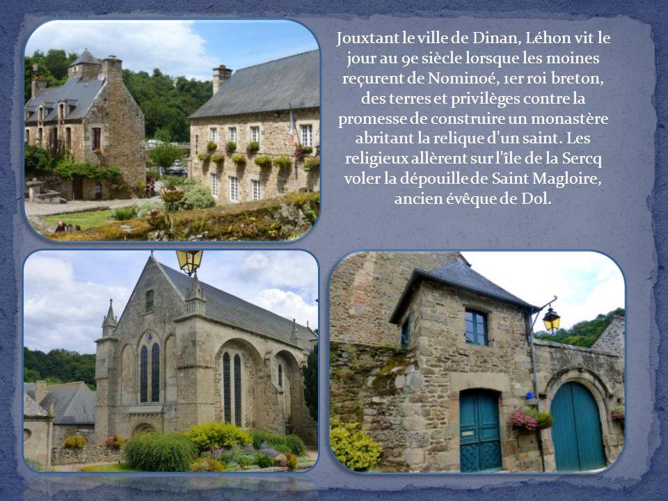 Jouxtant le ville de Dinan, Léhon vit le jour au 9e siècle lorsque les moines reçurent de Nominoé, 1er roi breton, des terres et privilèges contre la promesse de construire un monastère abritant la relique d un saint.