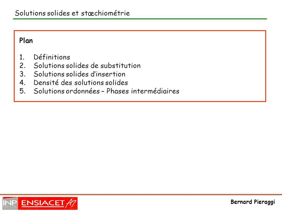 Solutions solides et stœchiométrie