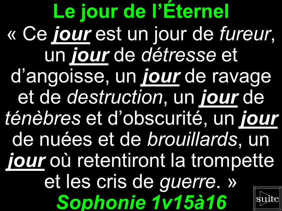 Le jour de l'Éternel Sophonie 1v15à16