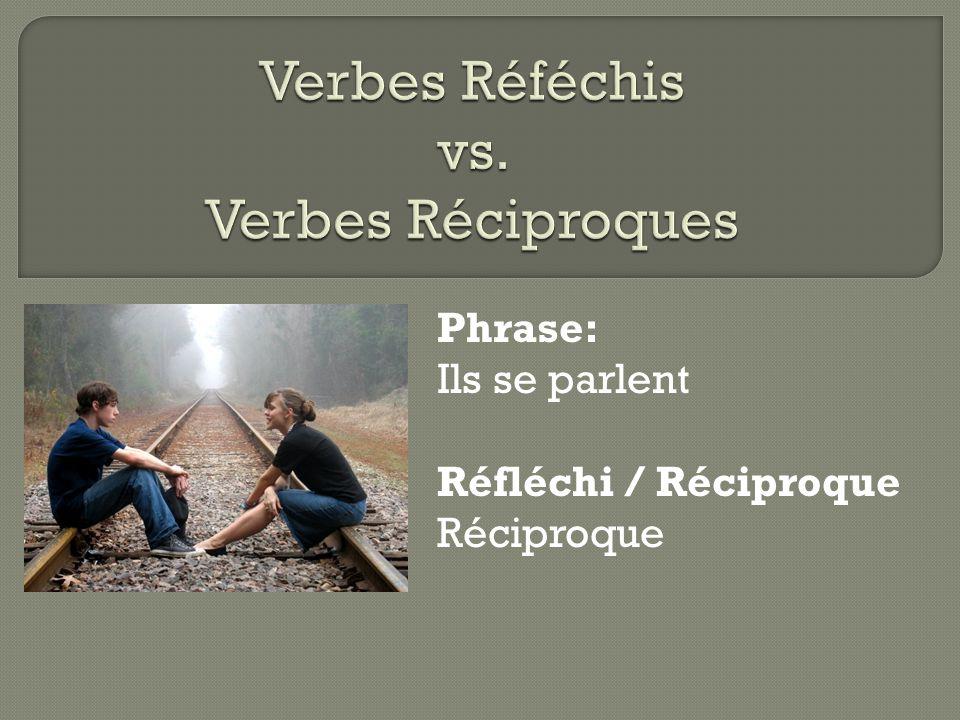 Verbes Réféchis vs. Verbes Réciproques