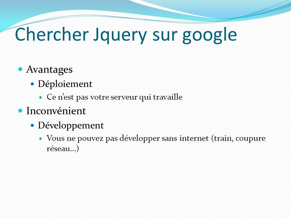 Chercher Jquery sur google