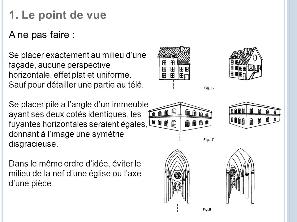 1. Le point de vue A ne pas faire :