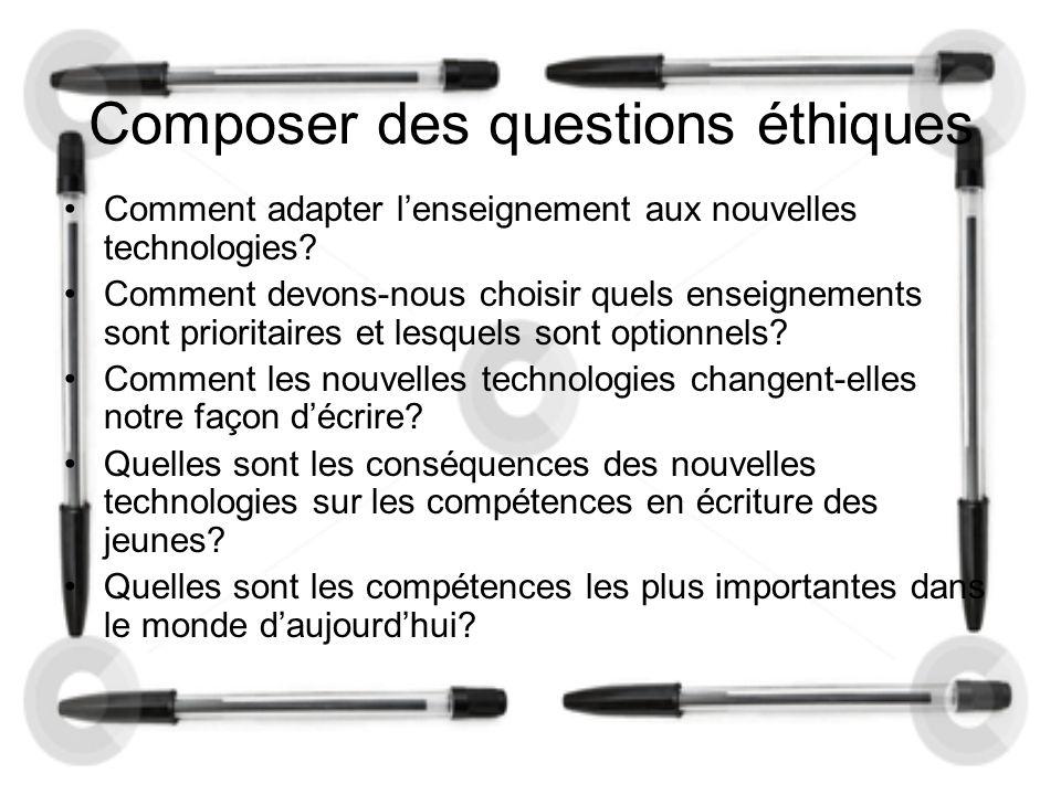 Composer des questions éthiques