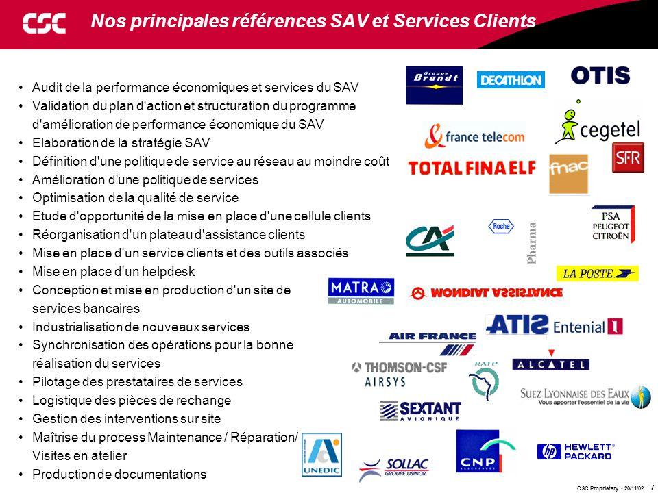 Nos principales références SAV et Services Clients