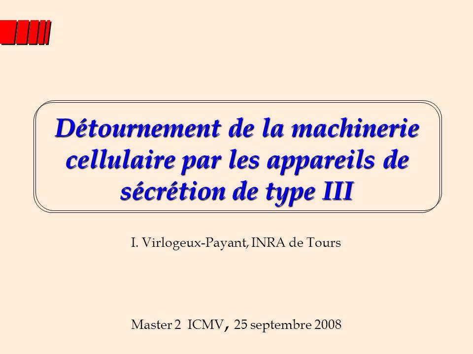 Détournement de la machinerie cellulaire par les appareils de sécrétion de type III