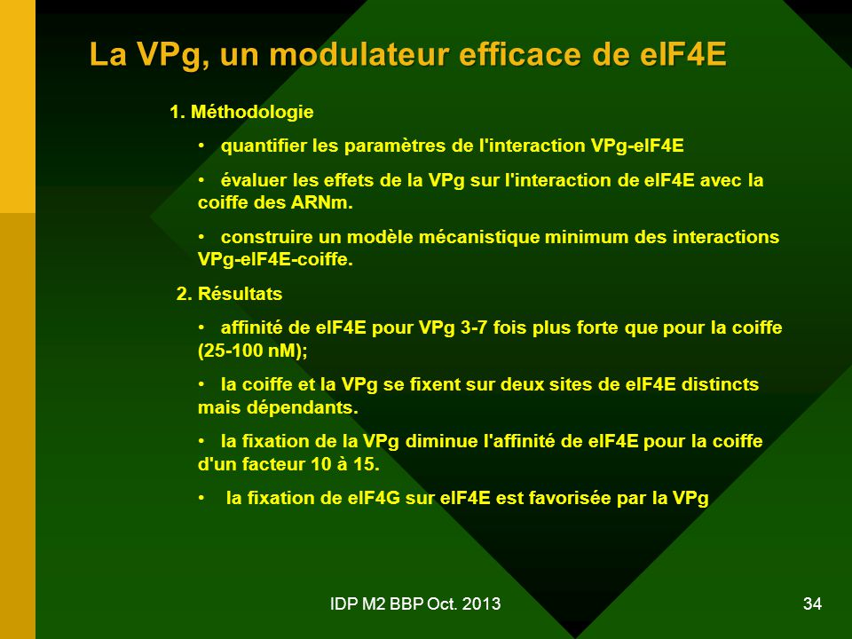 La VPg, un modulateur efficace de eIF4E