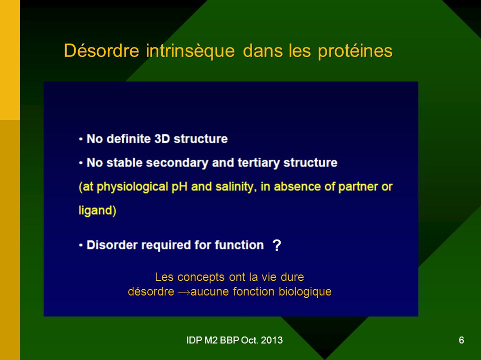 Désordre intrinsèque dans les protéines