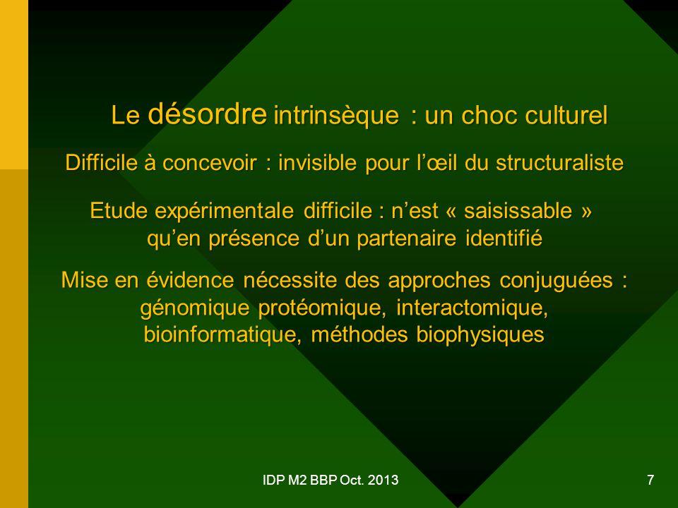 Le désordre intrinsèque : un choc culturel