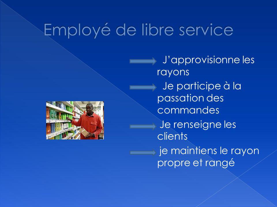 Employé de libre service