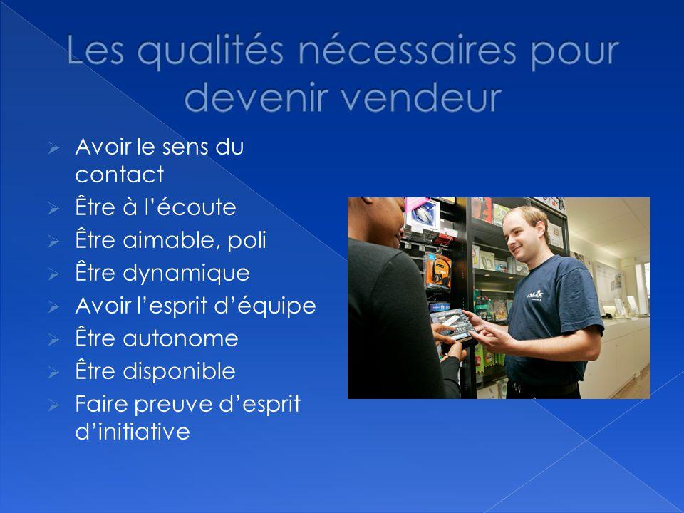 Les qualités nécessaires pour devenir vendeur
