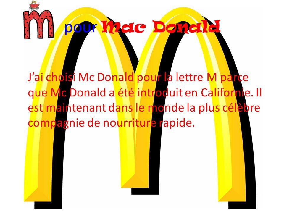 pour Mac Donald