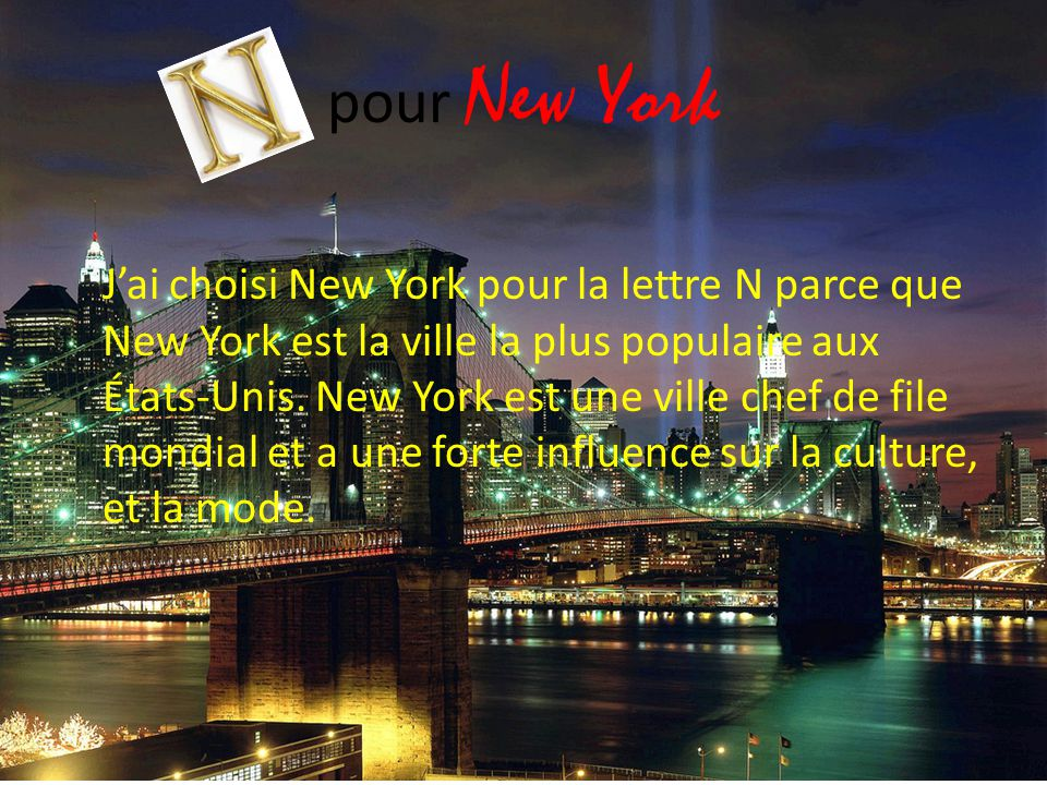pour New York