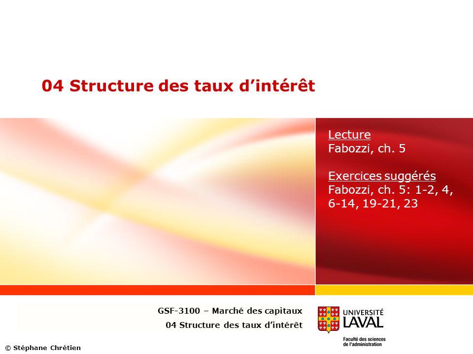 04 Structure des taux d'intérêt
