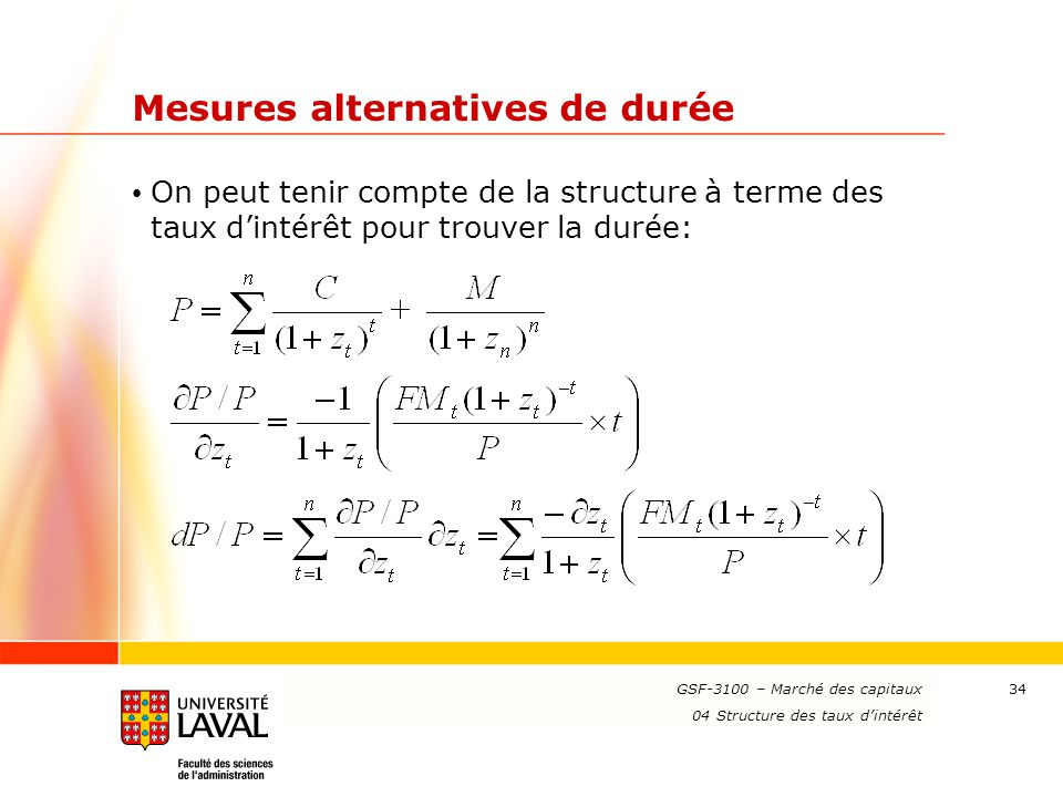Mesures alternatives de durée