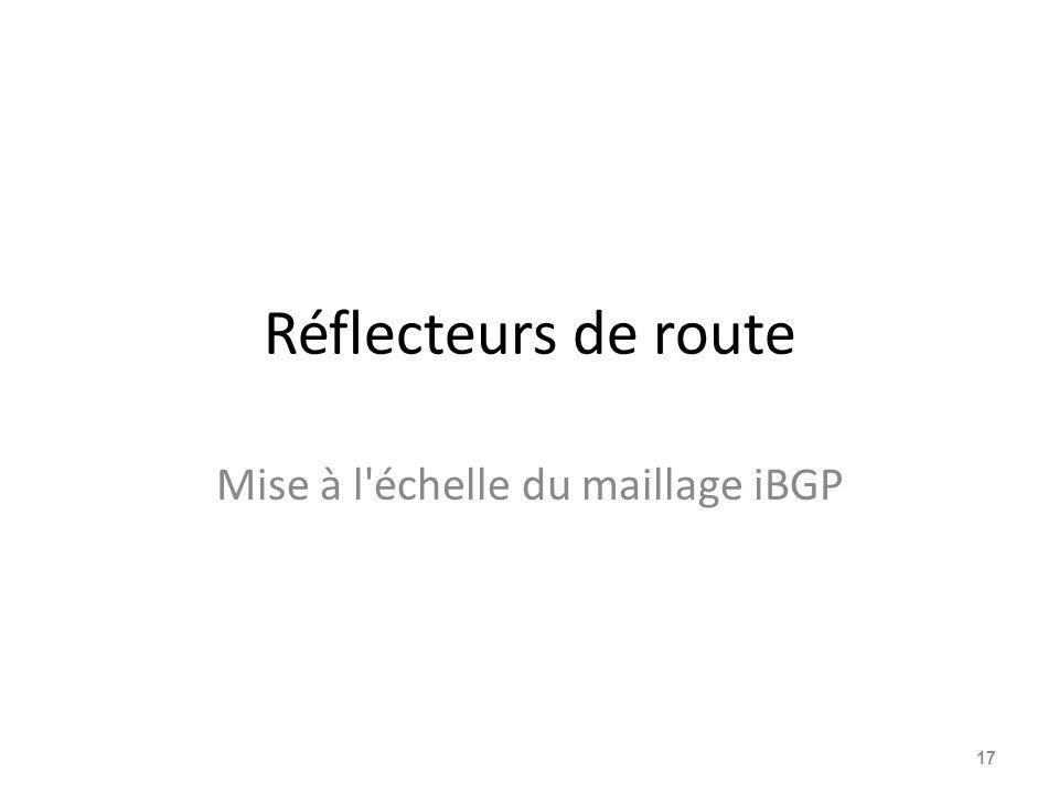 Mise à l échelle du maillage iBGP