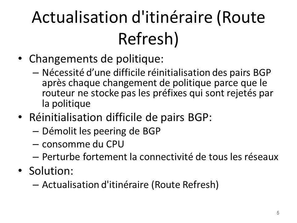 Actualisation d itinéraire (Route Refresh)