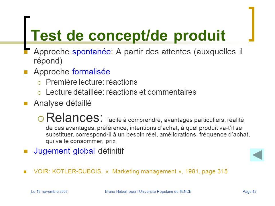 Test de concept/de produit