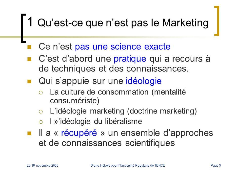 1 Qu'est-ce que n'est pas le Marketing