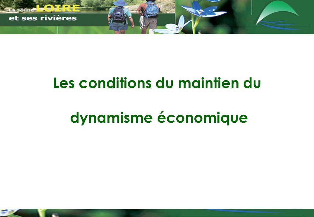 Les conditions du maintien du dynamisme économique