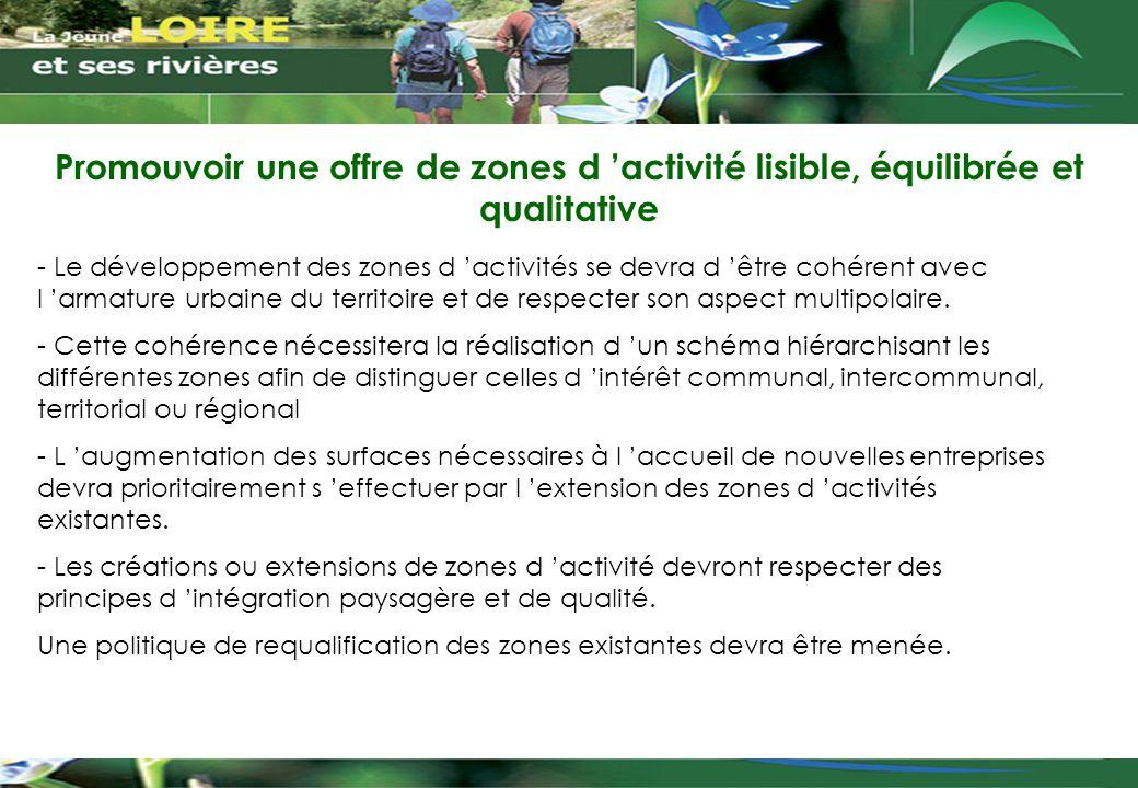 Promouvoir une offre de zones d 'activité lisible, équilibrée et qualitative