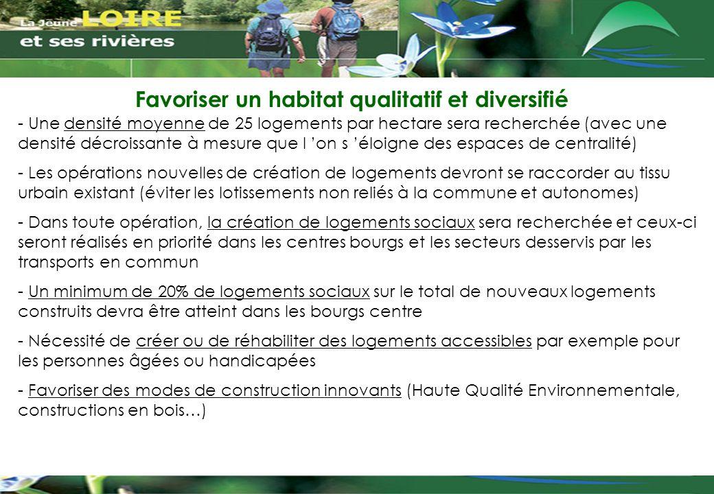 Favoriser un habitat qualitatif et diversifié