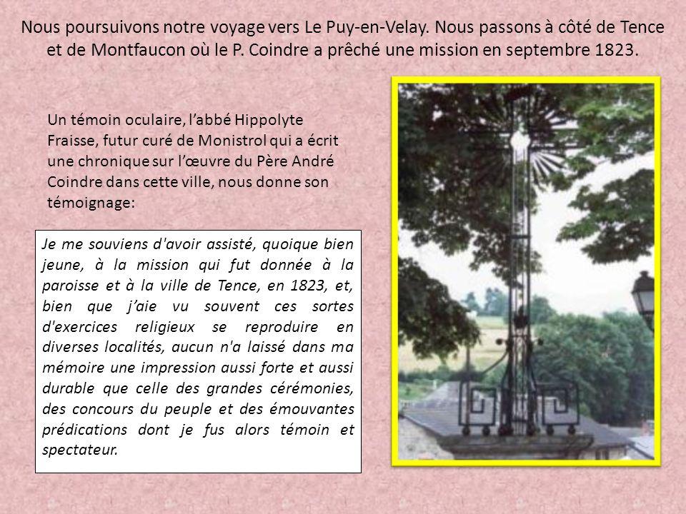 Nous poursuivons notre voyage vers Le Puy-en-Velay