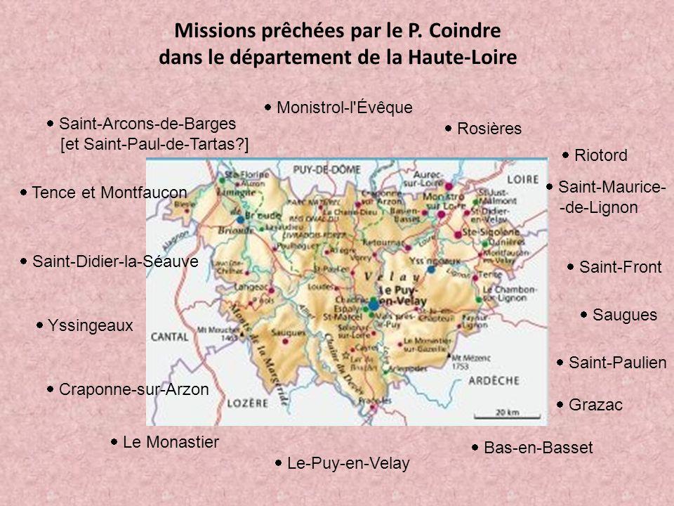Missions prêchées par le P