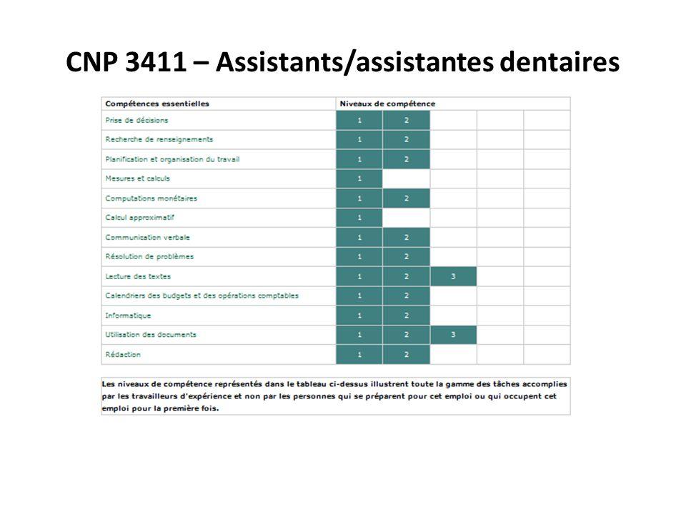 Les comp tences essentielles les activit s de - Grille des salaires des assistantes dentaires ...