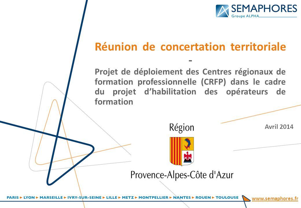 Réunion de concertation territoriale - Projet de déploiement des Centres régionaux de formation professionnelle (CRFP) dans le cadre du projet d'habilitation des opérateurs de formation