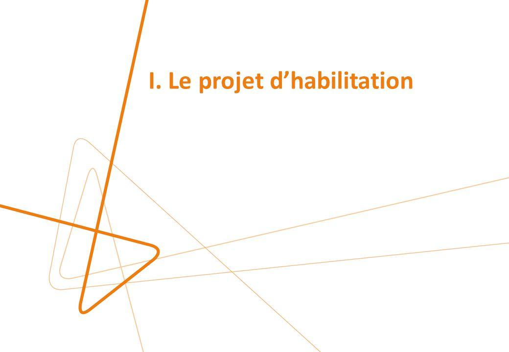 I. Le projet d'habilitation
