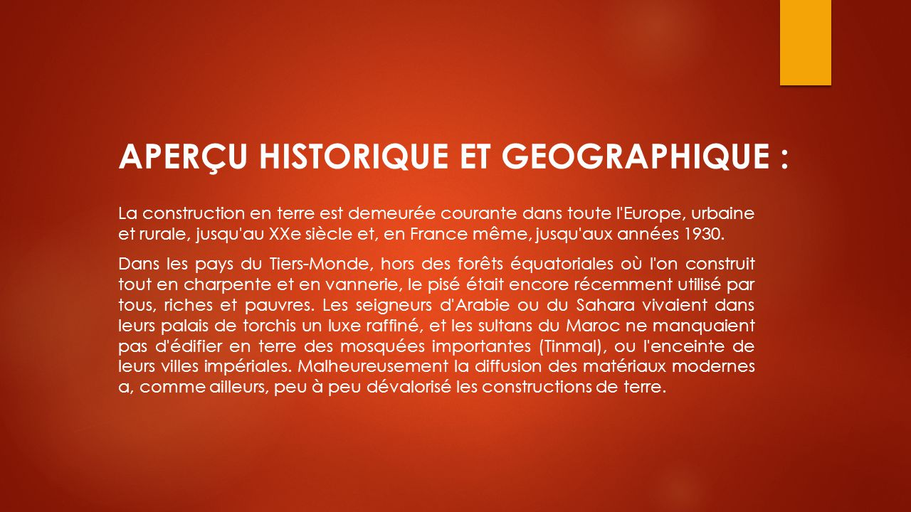 APERÇU HISTORIQUE ET GEOGRAPHIQUE :