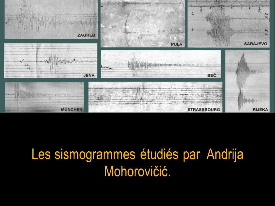 Les sismogrammes étudiés par Andrija Mohorovičić.