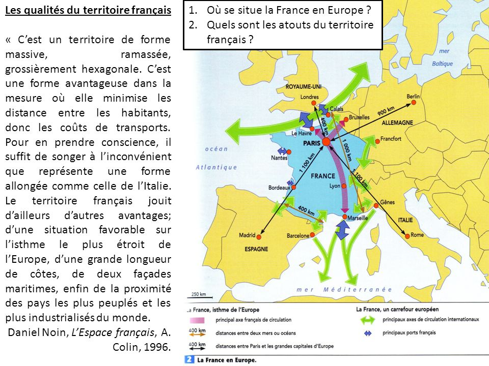 Les qualités du territoire français