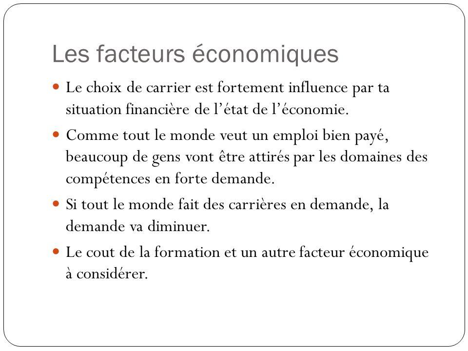 Les facteurs économiques