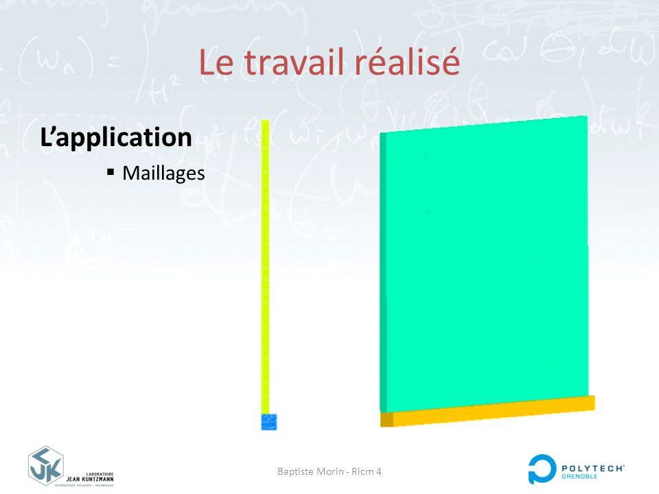 Le travail réalisé L'application Maillages Baptiste Morin - Ricm 4