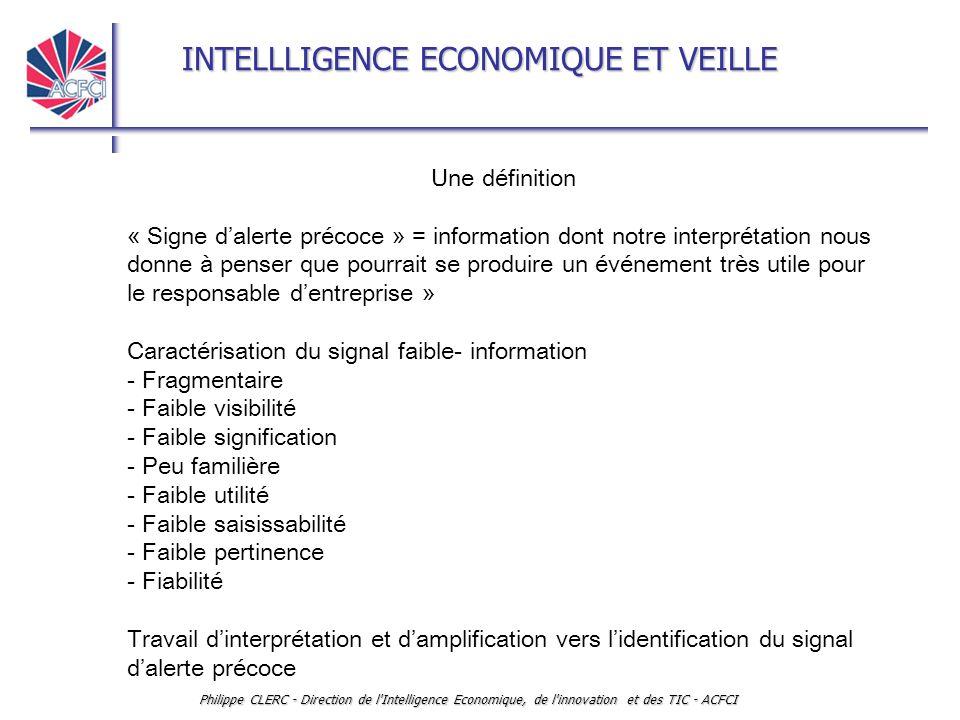 Caractérisation du signal faible- information - Fragmentaire