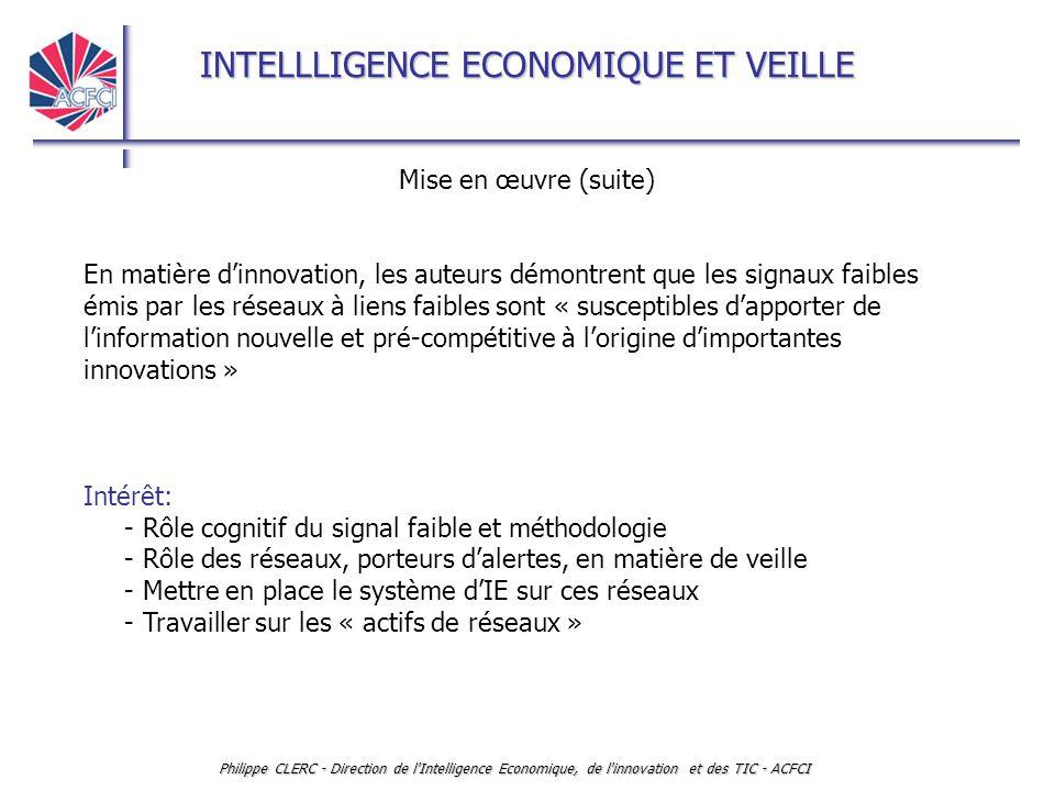 - Rôle cognitif du signal faible et méthodologie