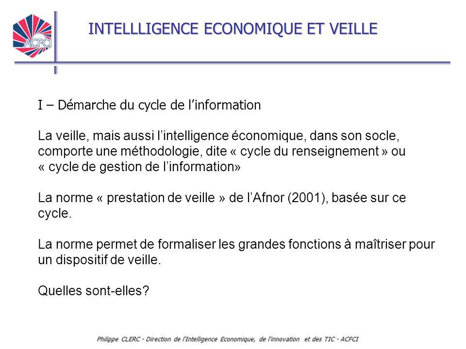 I – Démarche du cycle de l'information