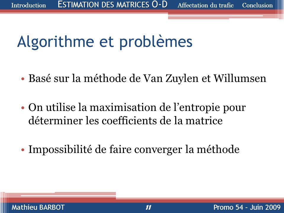 Algorithme et problèmes