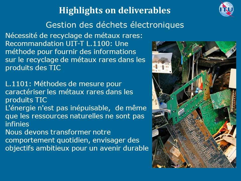 Highlights on deliverables