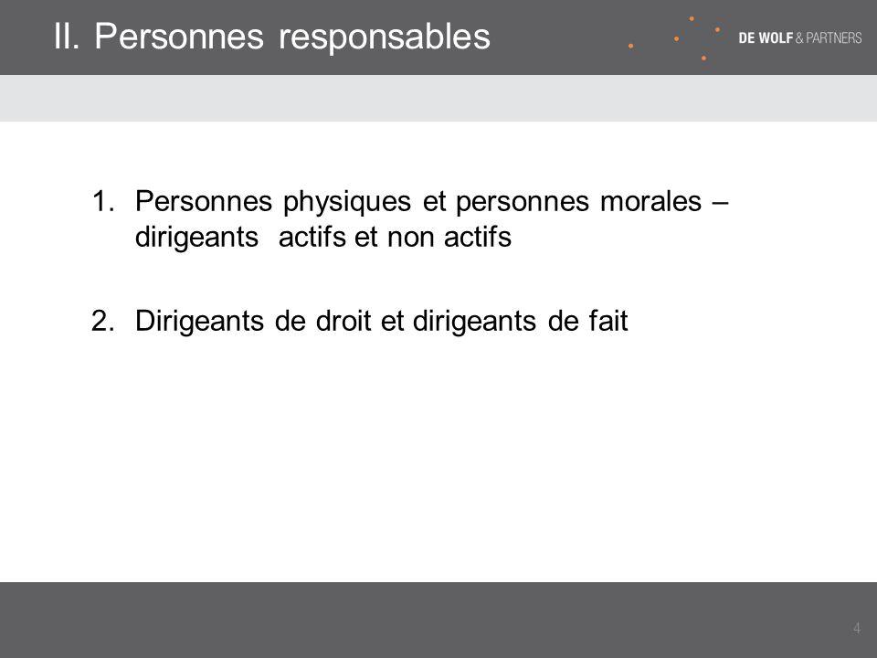 II. Personnes responsables