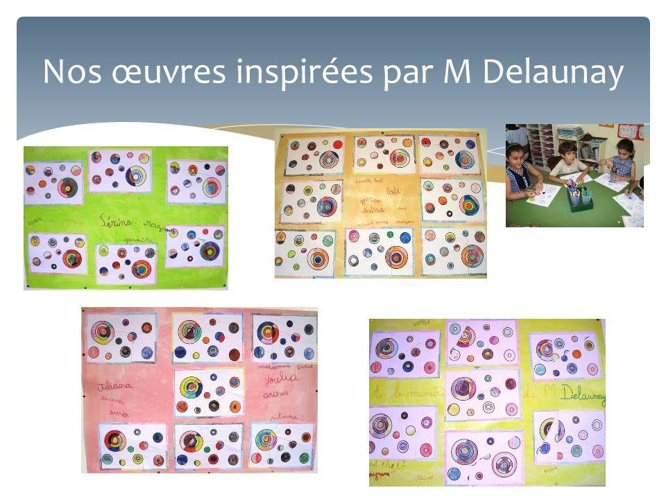 Nos œuvres inspirées par M Delaunay