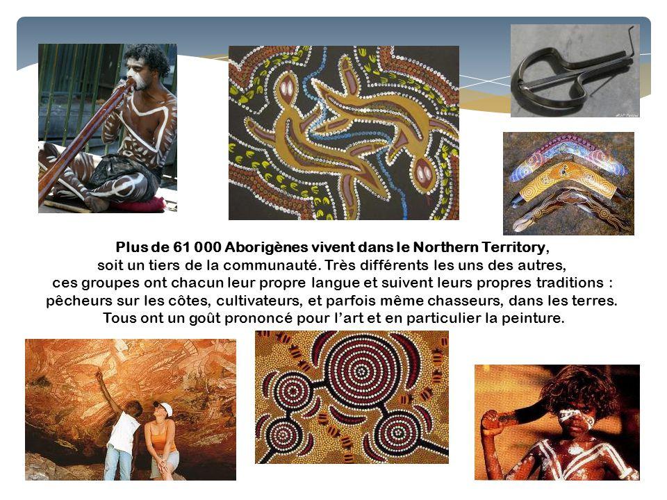 Plus de 61 000 Aborigènes vivent dans le Northern Territory,