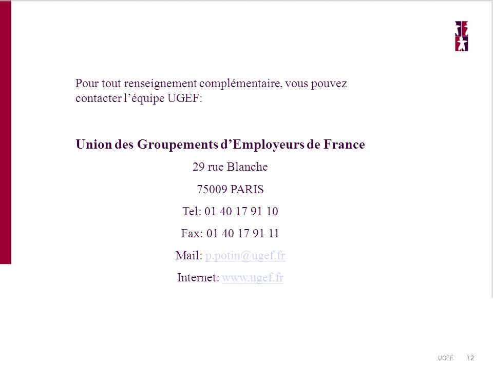 Union des Groupements d'Employeurs de France