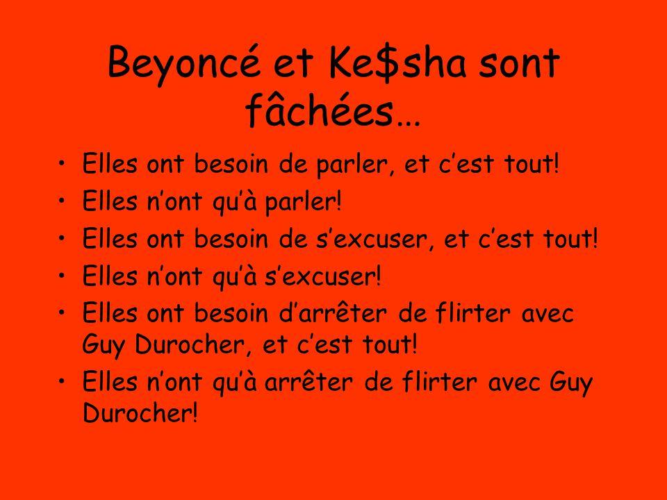 Beyoncé et Ke$sha sont fâchées…